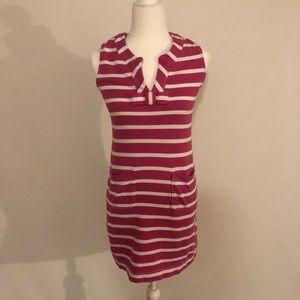 Kate Spade St. Tropez Pink & White striped Dress S